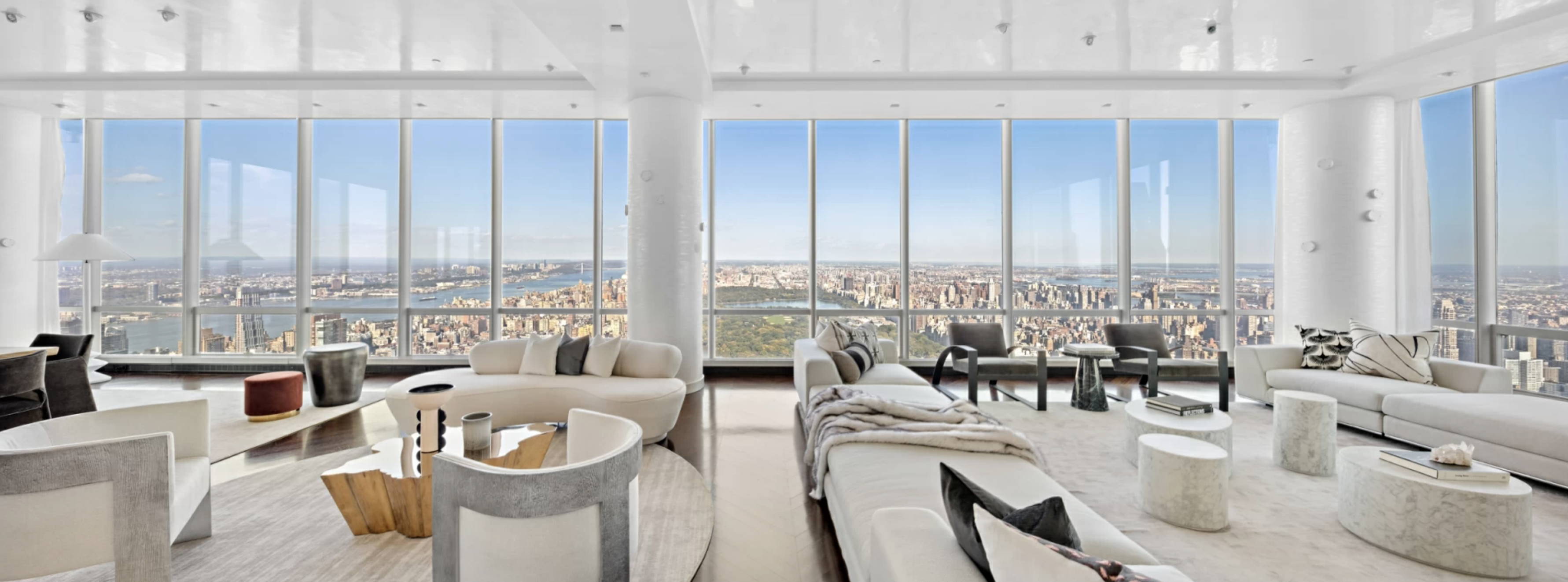 NYC real estate photography, penthouse with central park view